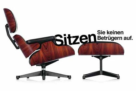 Pr pressemitteilung original versus plagiat die for Eames chair plagiat